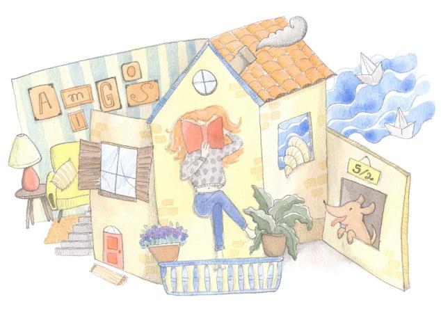 Casa Aberta linda imaginada pela Fabi Soares e desenhada pelo Santiago Regis, que traduz bem meu desejo de casa quando velha.
