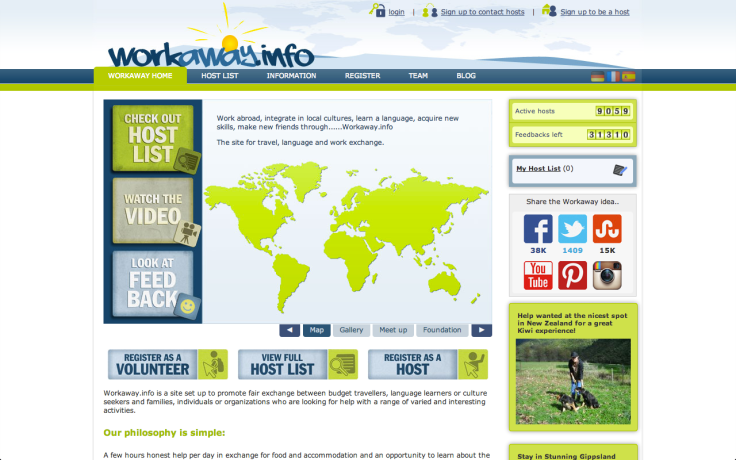 Workaway: um site pra achar hospedagem em troca de trabalho.