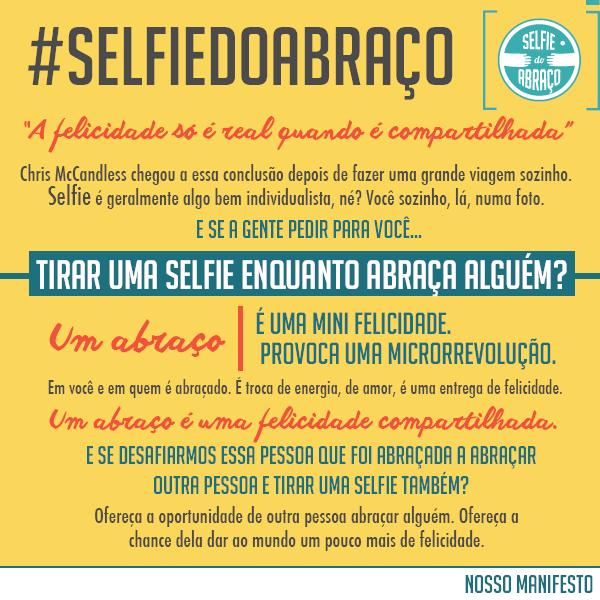 Manifesto da Selfie do Abraço!